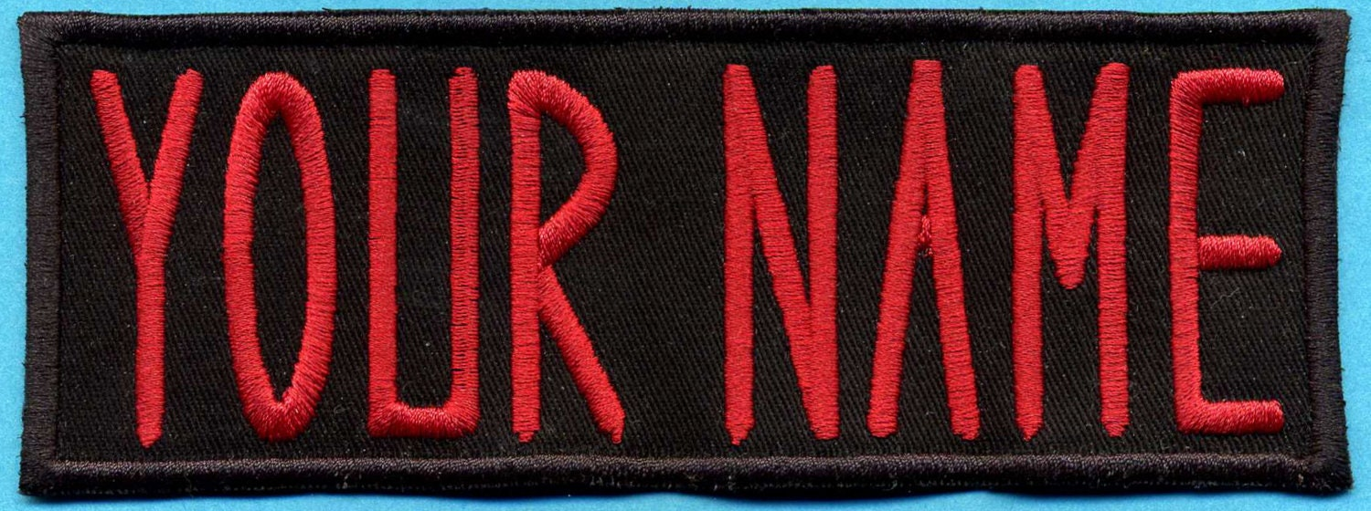 Adult Size Custom Ghostbuster 1 Style Name Tag Patch