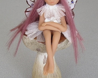 "Angel Fairy polymer clay Ooak miniature fantasy art doll ""Christalle"""