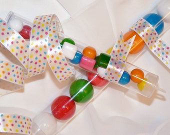 CANDY TUBES - CLEAR PlaStiC FaVor Tubes (set of 24) - Ready To Fill with CaNdy , NoVeLtY ToYs, Secret Message, Party , Favors