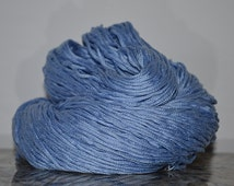 Pure Mercerized Cotton Yarn Reclaimed Yarn Blue