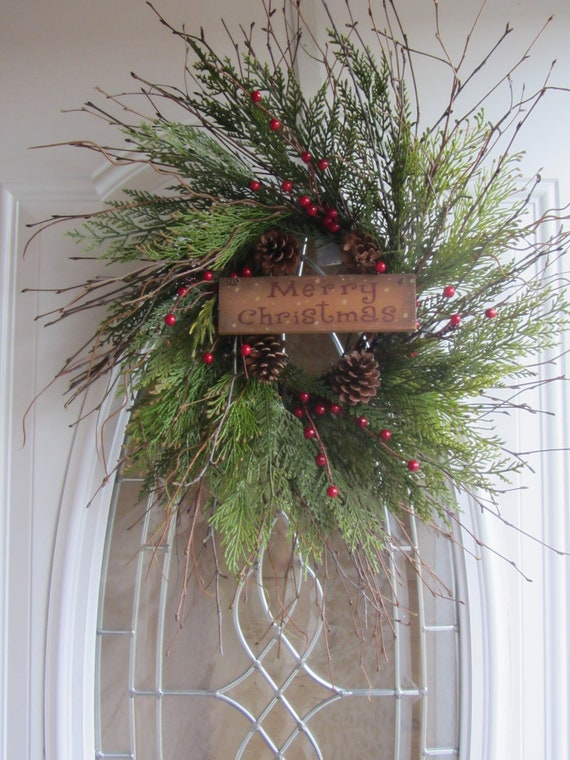 Christmas Wreath - Winter Wreath - Holiday Wreath - Pine Wreath
