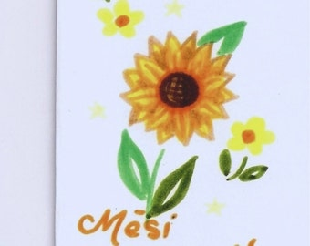 Mèsi Anpil - Thank you in Creole 8 cards for 10 dollars