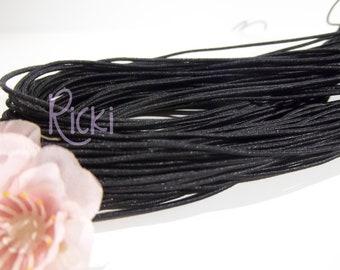 15 feet of 1mm Black Elastic Cord