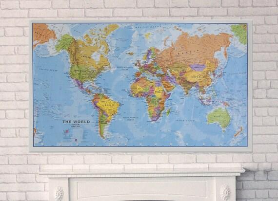 Politcal Map Of The World Laminated Amp By Mapsinternationalusa