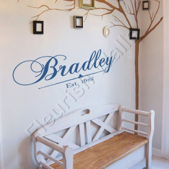 Items Similar To Personalized Family Last Name Vinyl Wall