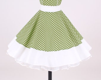 50s petticoat dress green/white item: 1606
