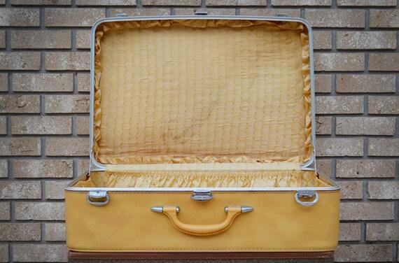 Vintage Yellow Suitcase Amelia Earhart Suitcase Extra