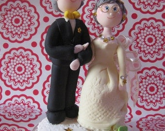 Custom wedding anniversary cake topper