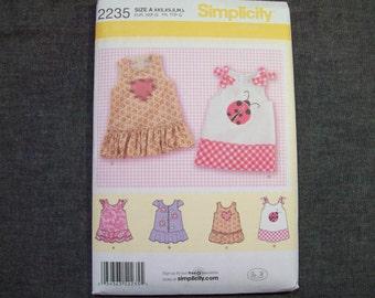 Simplicity 2235. New. Babies dress pattern.