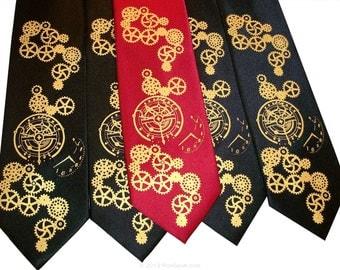 RokGear Neckties - Necktie set of Three Mens Clock Worx ties