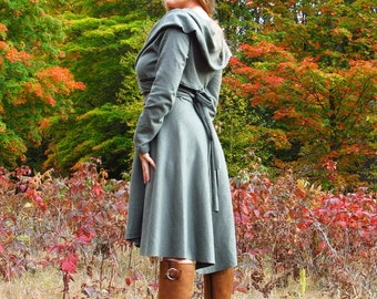 Harvest Moon Wrap Dress - Hemp and Organic Cotton - Several Colors to Choose From - Made to Order