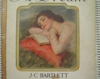 1895 A Dream J. C. Bartlett Charles B Cory Voice Song Book Sheet Music