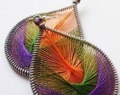 Funky Music Peruvian Silken Thread Earrings fancy earrings dangle earrings wire wrapped earrings beautiful handmade earrings stylish