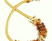 Necklace, Beaded Golden Ruffles