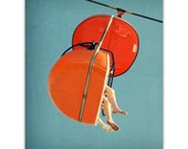 photography, mid century wall art, mid century print, orange red, mad men, carnival photography - SkyGlider I, 8x10 fine art photograph