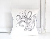 "16x16 Pillow Cover -  ""Quirky Octopus"""