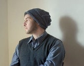 Men's Slouchy Hat in Soot Blue