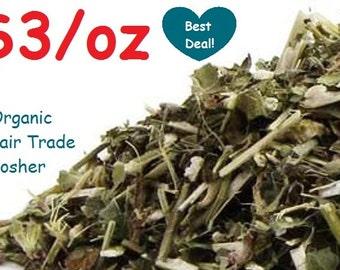 Organic WOOD BETONY -1oz- Dried Herb Stachys officinalis Fair Trade, Kosher, Non-GMO
