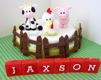 Farm Animal Cake Toppers