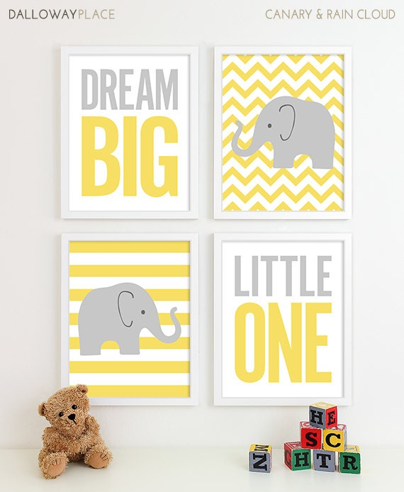 Baby Boy Gifts Elephant : Chevron elephant nursery decor kids wall art by