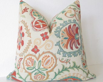Busy Petal Pool colorful suzani decorative pillow cover