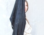 Black cobweb shawl scarf all seasons felting wool luxury cape gothic wedding bridesmaid idea for her fashion cij - Baymut