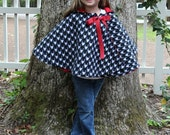 50% OFF Cozy Hooded Cape for kids sewing pattern, cape tutorial, PDF sewing pattern, how to sew