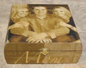 Unique Mother's Day Gift, Personalized Memorial Keepsake Box, Unique Custom Memory Box, Parents Gift