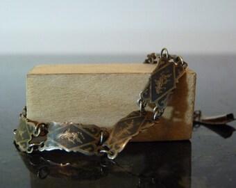 SPRING SALE Vintage Silver Siamese Dancing Buddha Bracelet