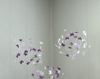 Baby Mobiles,Nursery Mobiles, Butterfly Mobiles, Nursery Decor, Baby Mobiles, Baby Girl Mobiles