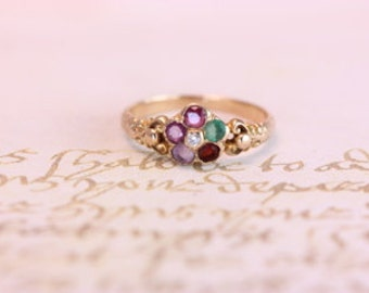 "Victorian inspired 14Kt. yellow gold ""regard"" ring."