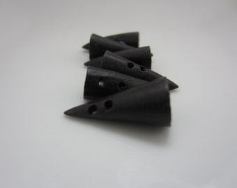 Ebony Toggle Buttons - qty. 6