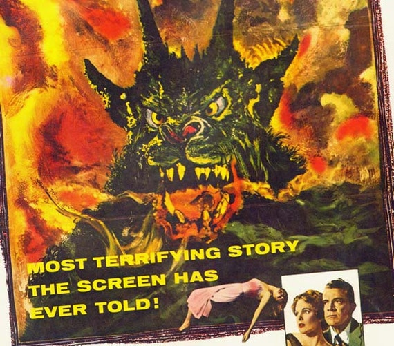 Curse Of The Demon 1950s Film Sci Fi Horror Movie Poster Full