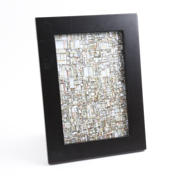 "Substrate algorithm 4"" x 6"" framed print"