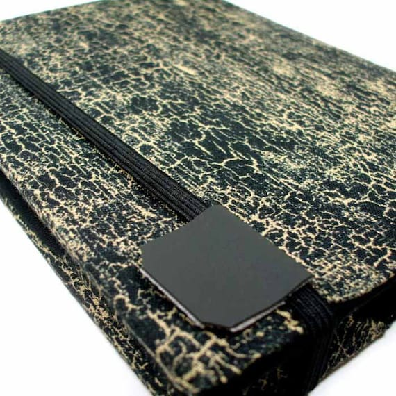 Kindle Touch Cover - Black and Tan Crackle case - unisex or mens - fits Kindle Paperwhite