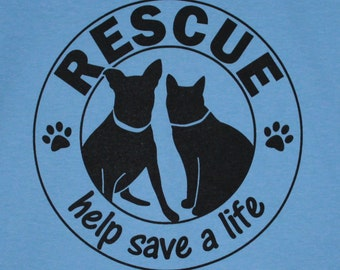 Rescue Help Save a Life Blue Mens/Unisex Tee