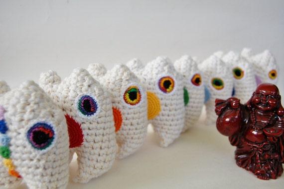 chakra mini monster set by knot by gran'ma