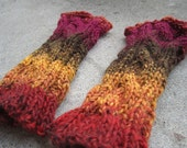 Hurry up Fall Arm Warmies (arm warmers, wrist warmers, fingerless golves)