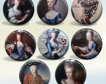 Marie Antoinette Set of 8 magnets