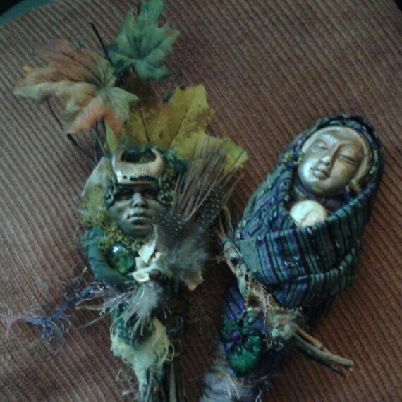 RESERVED 2 dolls, The Secret of Happiness and The Green Man