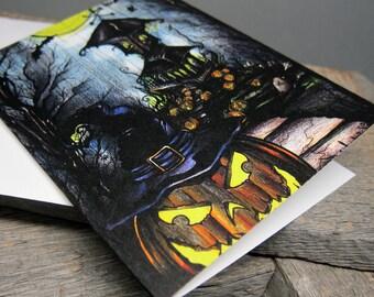 ARTifact - Spook-O-Ween Note Card on Matte Linen Paper