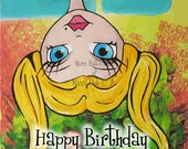 """Greeting Card by a Glitzy Gal ...    """"Happy Birthday"""""""