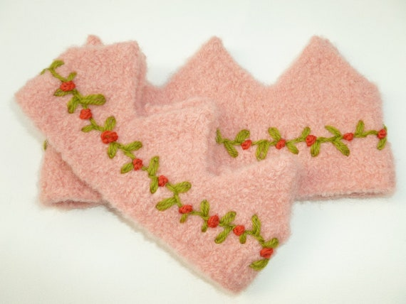 Felted wool crown set for child and doll