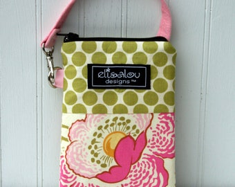 Poppies Padded Gadget Pouch- iPhone5, iPod Touch, Blackberry, Flip, Camera