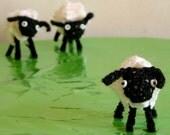 Kleines schottisches Lamm Crochet Amigurumi Mini-Schaf