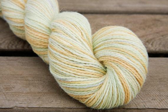 Fresh -  Handpainted Angora Alpaca Wool Yarn 100 grams - Sock Fingering Hand Dyed