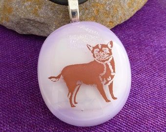Chihuahua on Glass Necklace