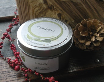 Cranberry Soy Candle, Travel Tin 6 oz