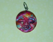 Fireball Handcrafted Face Pendant Fun and Funky