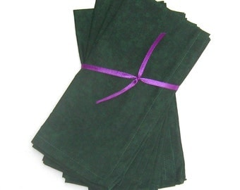 Dark Forest Green Cloth Napkins Set of 4